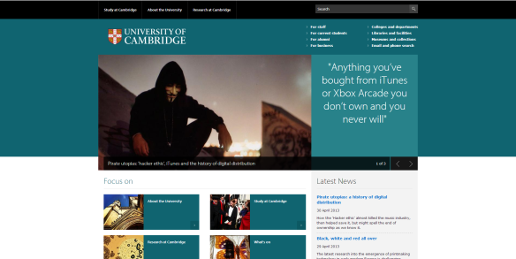 Cambridge University ran an article on my book today!